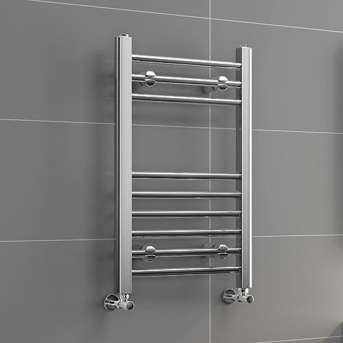 Tradesman Straight Chrome Heated Towel Rail Warmer: IBathUK 1200 X 400 Curved Heated Towel Rail Chrome