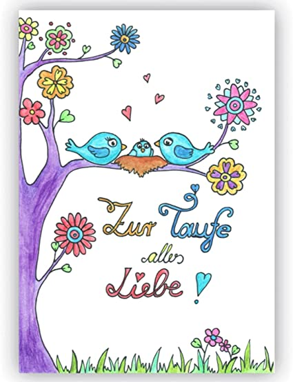 Glückwunsch Zur Taufealles Liebe Zur Taufe Glückwunschkarte Taufe Taufkarte Taufkarte Mädchen Taufkarte Jungen Karte Zur Taufe Süße Karte