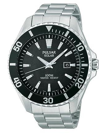 Avec Inoxydable Montre Px3035x1 Bracelet Analogique Pulsar – Homme Acier En Quartz I7mvf6gyYb