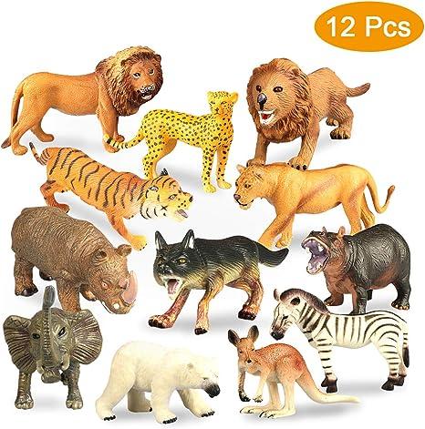 Realistische Plastiktiere Zootier Wildtier Tierfigur Spielfigur Kinder
