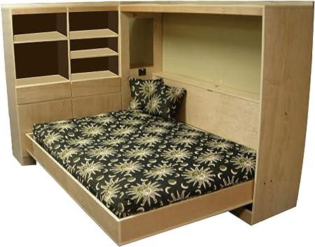 Construye tu propia cama horizontal de Murphy Plan de cama tamaño queen Planes de cama DIY muebles