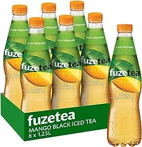 Fuze Mango Green Iced Tea Bottle, 6 x 1.25 l