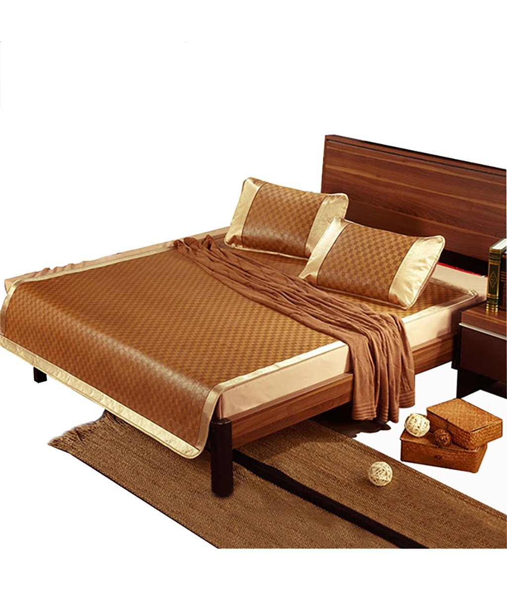 WENZHE Matratzen Strohmatte Teppiche Bambus Sommer Schlafmatten Haushalt Atmungsaktiv Faltbar Matten (größe : 0.8  1.9m)