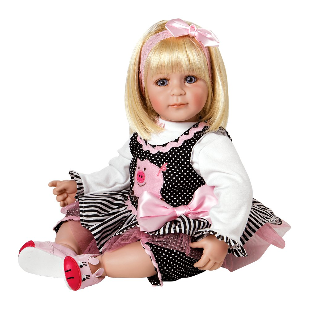 """Adora Toddler Oink 20"""" Girl Weighted Doll Gift Set for Children 6+ Huggable Vinyl Cuddly Snuggle Soft Body Toy"""
