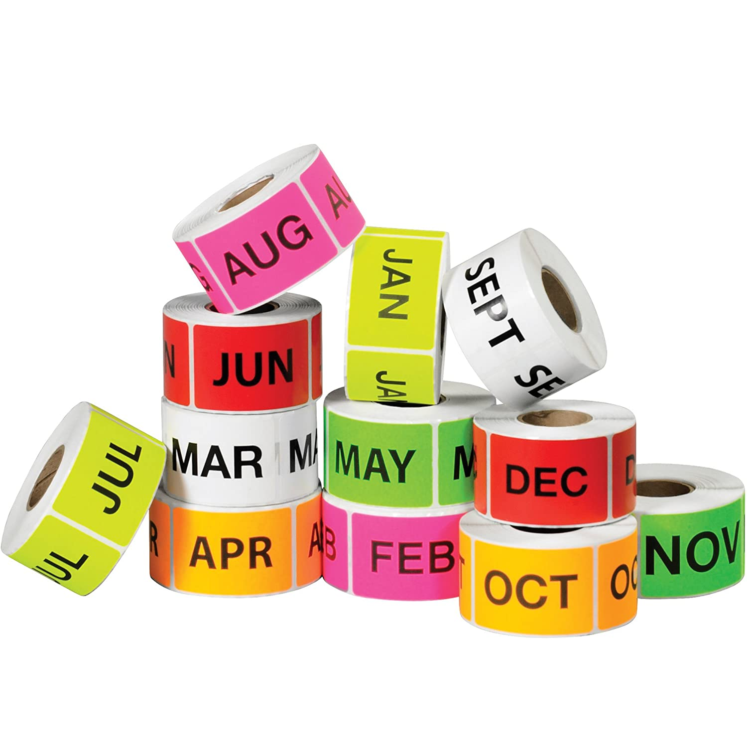 Tape Logic Easy Order Packs Assorted Colors Months of The Year 2 x 3 12//Case