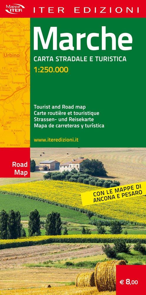 Marche Cartina Stradale.Amazon It Marche Carta Stradale E Turistica 1 250 000 Aa Vv Aa Vv Libri