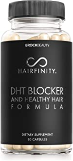 Hairfinity DHT Blocker and Healthy Hair Formula - Growth Supplement with