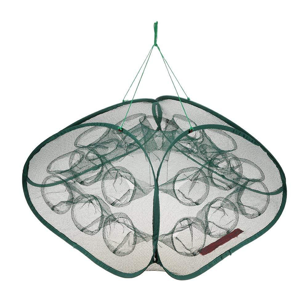 Lixada 5/21 Holes Portable Fishing Net Shrimp Cage Foldable Crab Fish Shrimp Mesh Trap Cast Net Folding Fishing Net KMH9353471807940MW