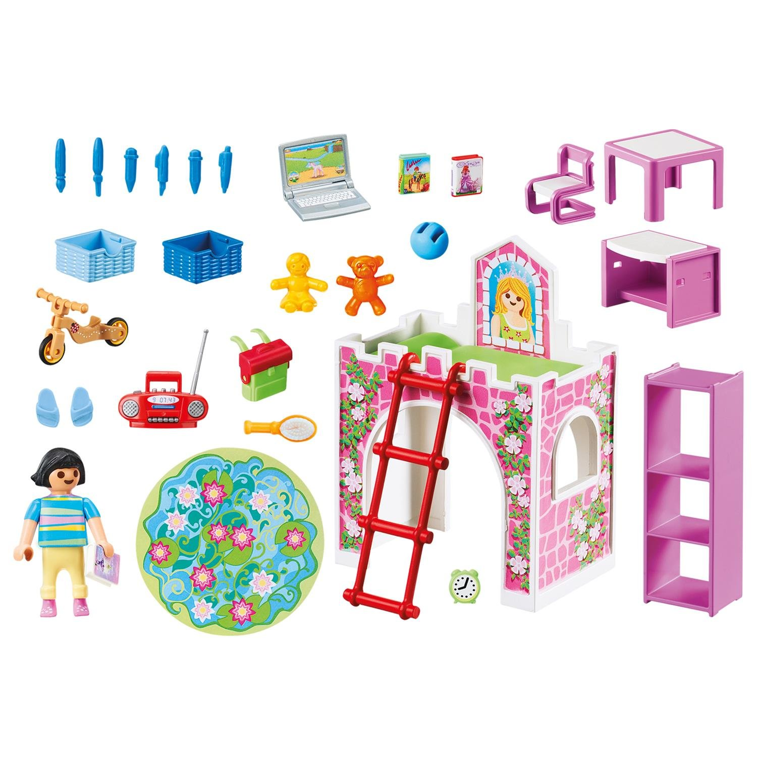 Amazon.com: PLAYMOBIL® Children\'s Room Building Set: Toys & Games