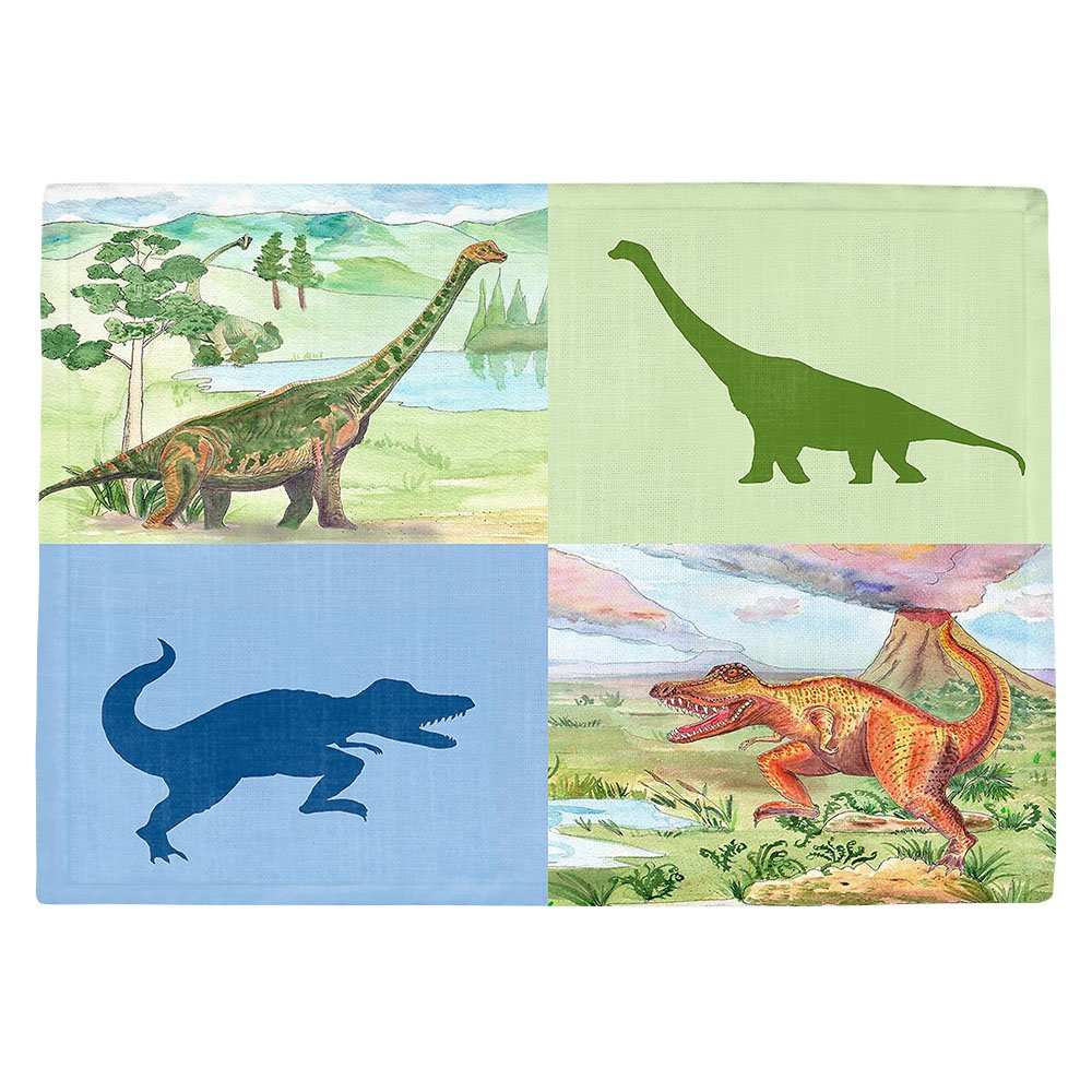 DIANOCHEキッチンPlaceマットby Catherine Holcombe恐竜コラージュ Set of 2 Placemats PM-CatherineHolcombeDinosaurCollage1 Set of 2 Placemats  B01EXSK9P0