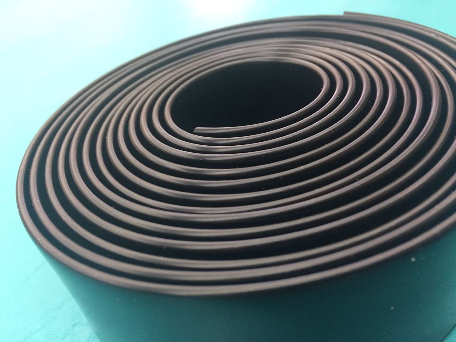 "KOMORAX Black 1.5"" Wide 20' Length Chair Vinyl Strap Strapping for Patio Lawn Garden Outdoor Furniture Matte Finish Color"