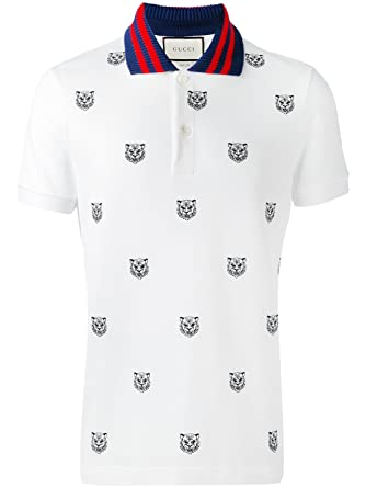 919dfdd78660 Gucci Homme 475118X5T759018O Blanc Coton Polo  Amazon.fr  Vêtements ...
