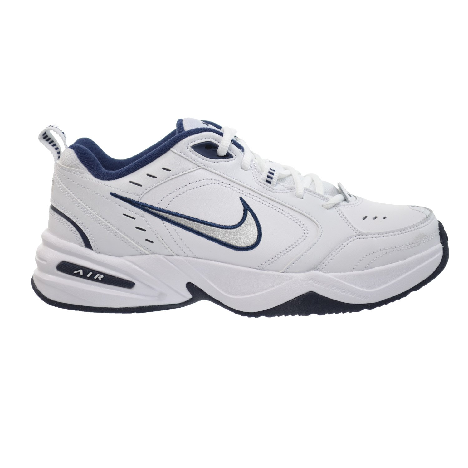 pretty nice 66e19 bd967 Nike Air Monarch IV Mens  Training Shoes White Metallic Silver-Mid Navy  415445-102 (12 D(M) US)  Amazon.co.uk  Shoes   Bags