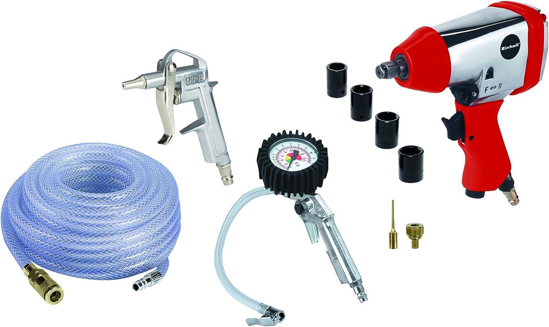 Einhell 4020565 - Set de aire comprimido, presión de trabajo 6.3 bar, consumo de aire 141 l/min