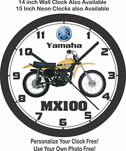 Amazon Com Yamaha Mx100 Motocross Wall Clock Home Kitchen