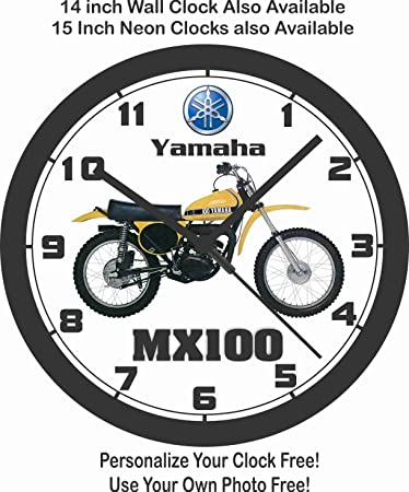 Amazon Com Yamaha Mx100 Motocross Wall Clock Home Kitchen
