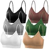 PAXCOO Bras for Women Pack of 6, Bralettes for Women Padded, Sports Bras for Women