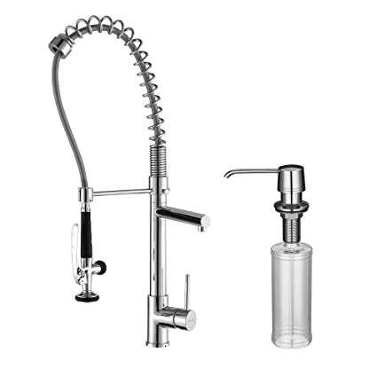 parts kpf function faucets and commercial with dual kitchen faucet kraus pre style spray swiveling chrome head spout rinse features