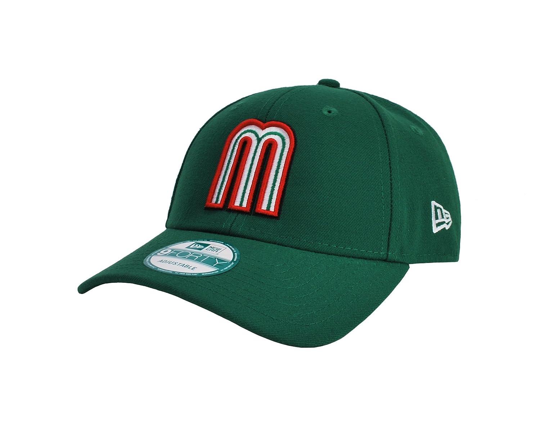 New Era 9Forty Men s Adjustable Hat World Baseball Classic Mexico Green Cap  at Amazon Men s Clothing store  9092ab2ec0e