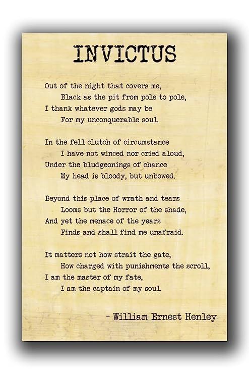 invictus poem by william ernest henley