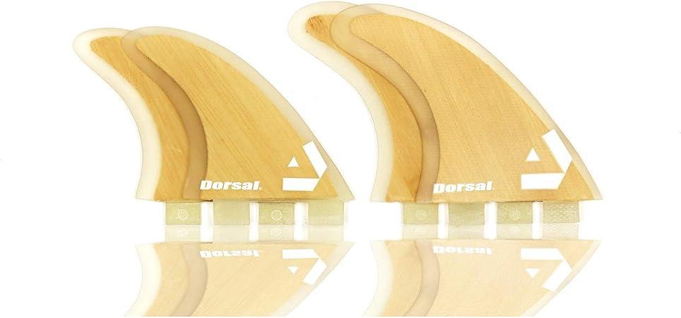 4 Dorsal Surfboard Fins Hexcore Quad Set Honeycomb FCS Base Orange