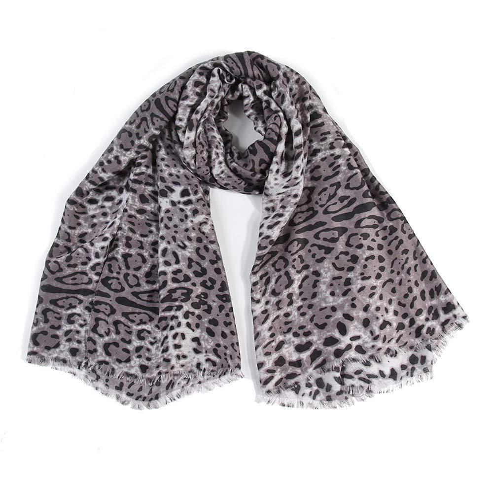 Toaimy Scarves Women Retro Leopard Print Scarf Fashion Retro Female Multi-Purpose Shawl Scarf