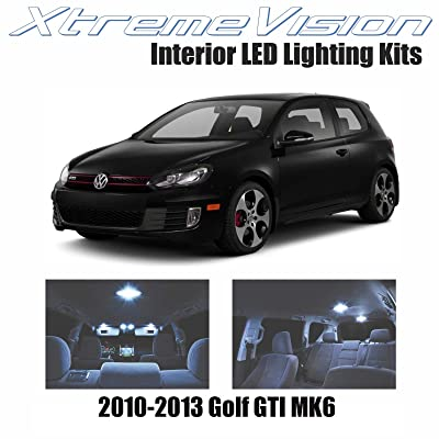 XtremeVision Interior LED for Volkswagen Golf GTI MK6 2010-2013 (8 Pieces) Cool White Interior LED Kit + Installation Tool: Automotive