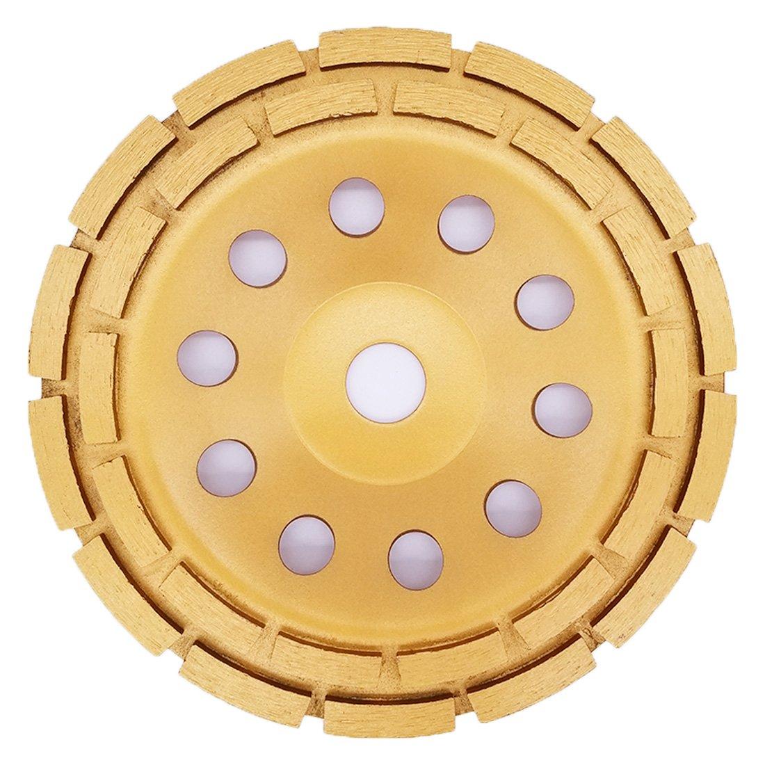 Concrete Grinding Diamond Disc 125mm/4.92', APLUS  Diamond Grinder Disc,  Diamond Cuttig Wheel for Concrete, Marble, Granite, Stone, Cement and Ceramics,  Diamond Cup Wheel for Angle Grinder