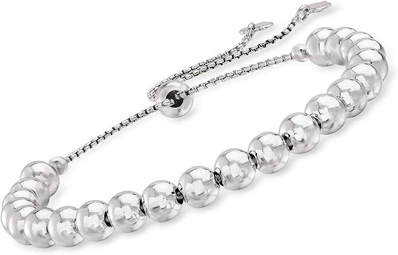 Silver Stackable Ring and Bracelet Set Sterling Silver Beaded Jewellery Set Sterling Silver Timeless Beaded Bracelet and Ring Set