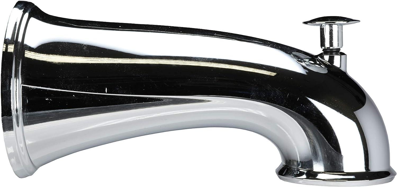 DANCO Decorative Bathtub Faucet Spout with Pull Up Diverter   6 Inch Length   Chrome Finish (10315)