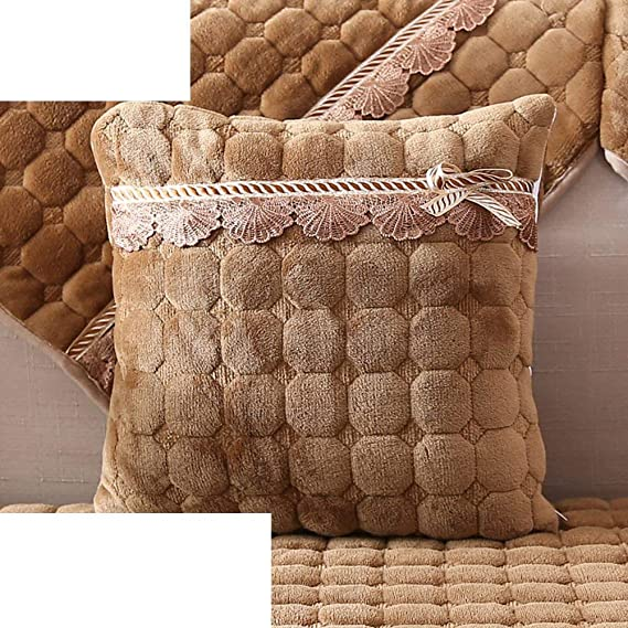 ACZZ Cojín de sofá de almohada de felpa europea de invierno Cojín ...