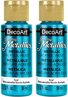 product image for DecoArt Dazzling Metallics Acrylic Colors (2 Pack, Teal)