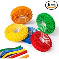 JoJoMooN Silicone Non-Toxic 5-Pcs. 3ft Rolls Safe Tapes (Multi Color)