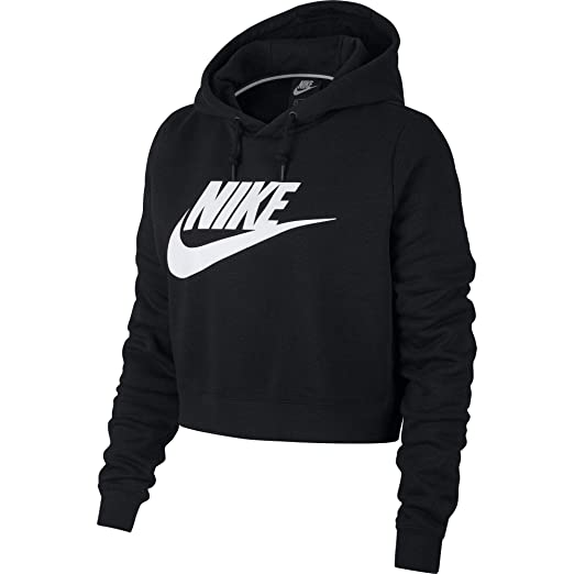 ffe1e92725852 Nike Womens Rally Hoodie Crop Top Sweatshirt  Amazon.ca  Sports   Outdoors