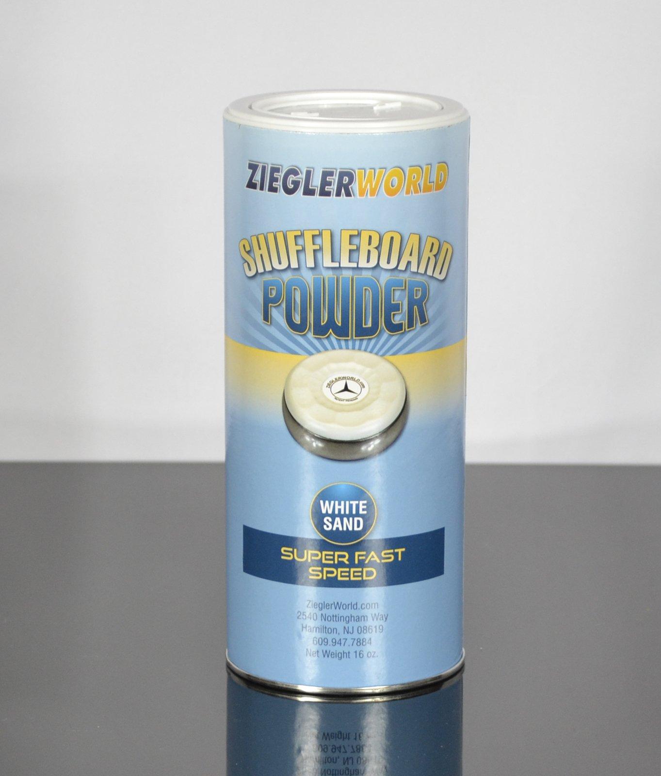 Zieglerworld 1 can White Sand Table Shuffleboard Powder Wax - Super Fast Speed
