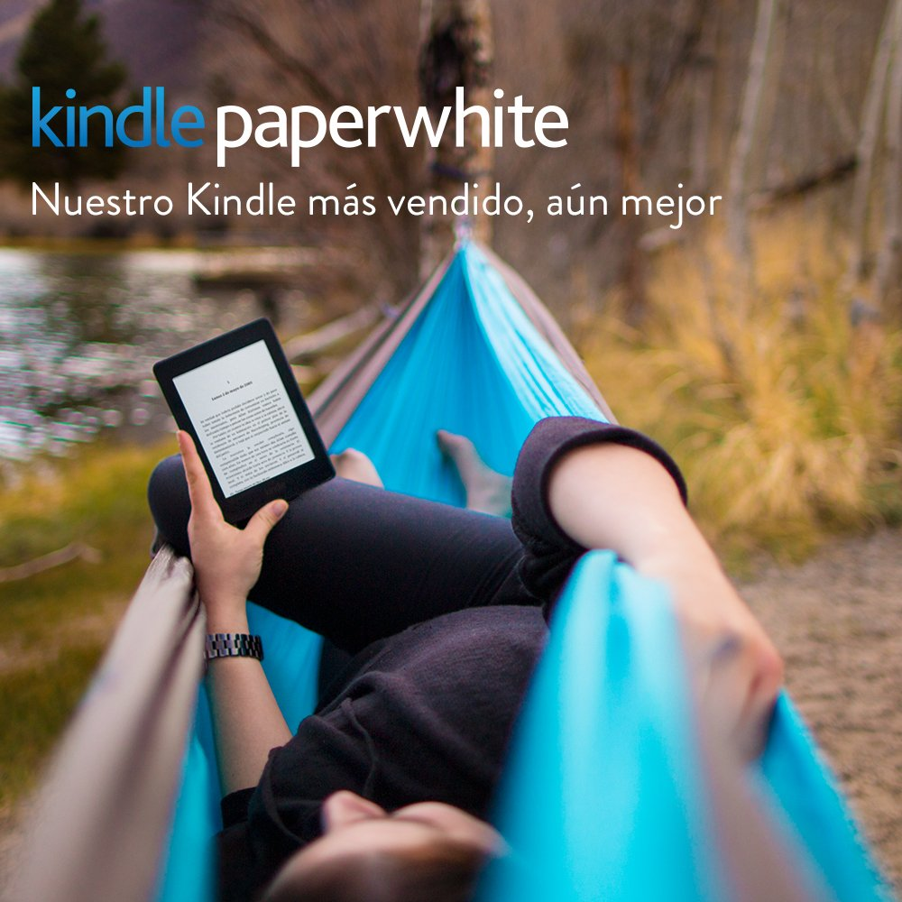 "E-reader Kindle Paperwhite, pantalla de 6"" (15,2 cm) de alta resolución (300 ppp) con luz integrada, wifi (Negro) - incluye ofertas especiales"