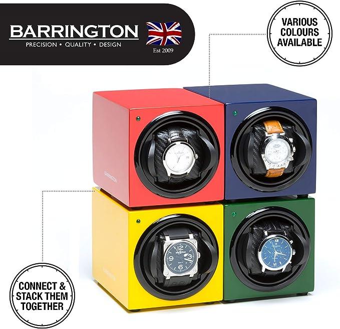 Barrington | Estuche Cargador Barrington para Un Reloj - Negro Oscuro Cojín Estándar: Amazon.es: Relojes