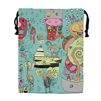 5939b7e666ff Amazon.com: Cartoon World Drawstring Bag for Girls Print Backpack ...