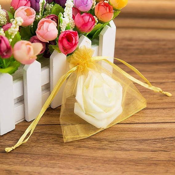 Amazon.com: YUXIER 30 Bolsas de organza para regalo, 4 x 4 ...