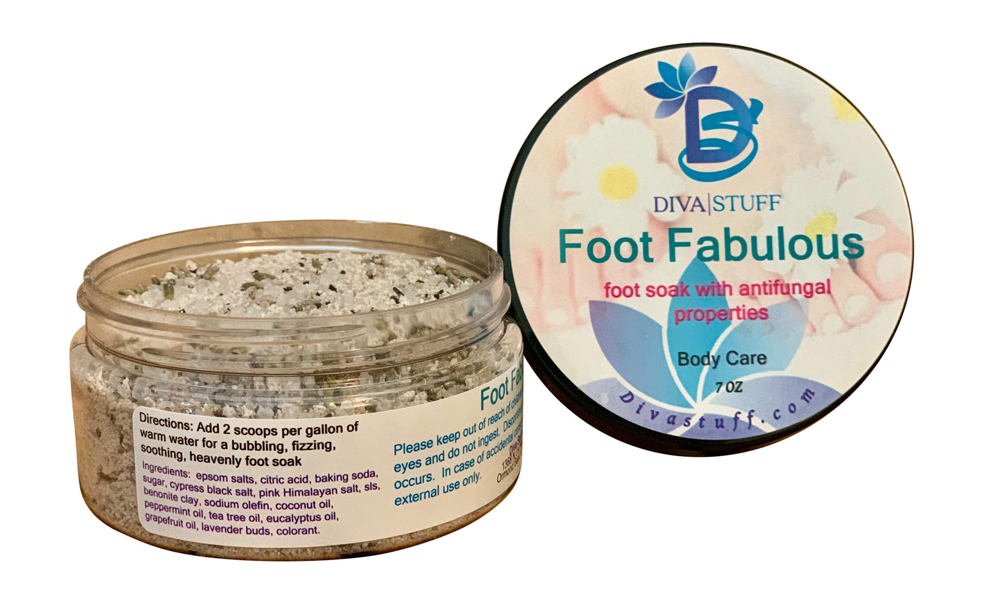 Foot Fabulous, Soothing Soak for Soft Soles, Antifungal, Deodorizing and Softening, Diva Stuff by Diva Stuff