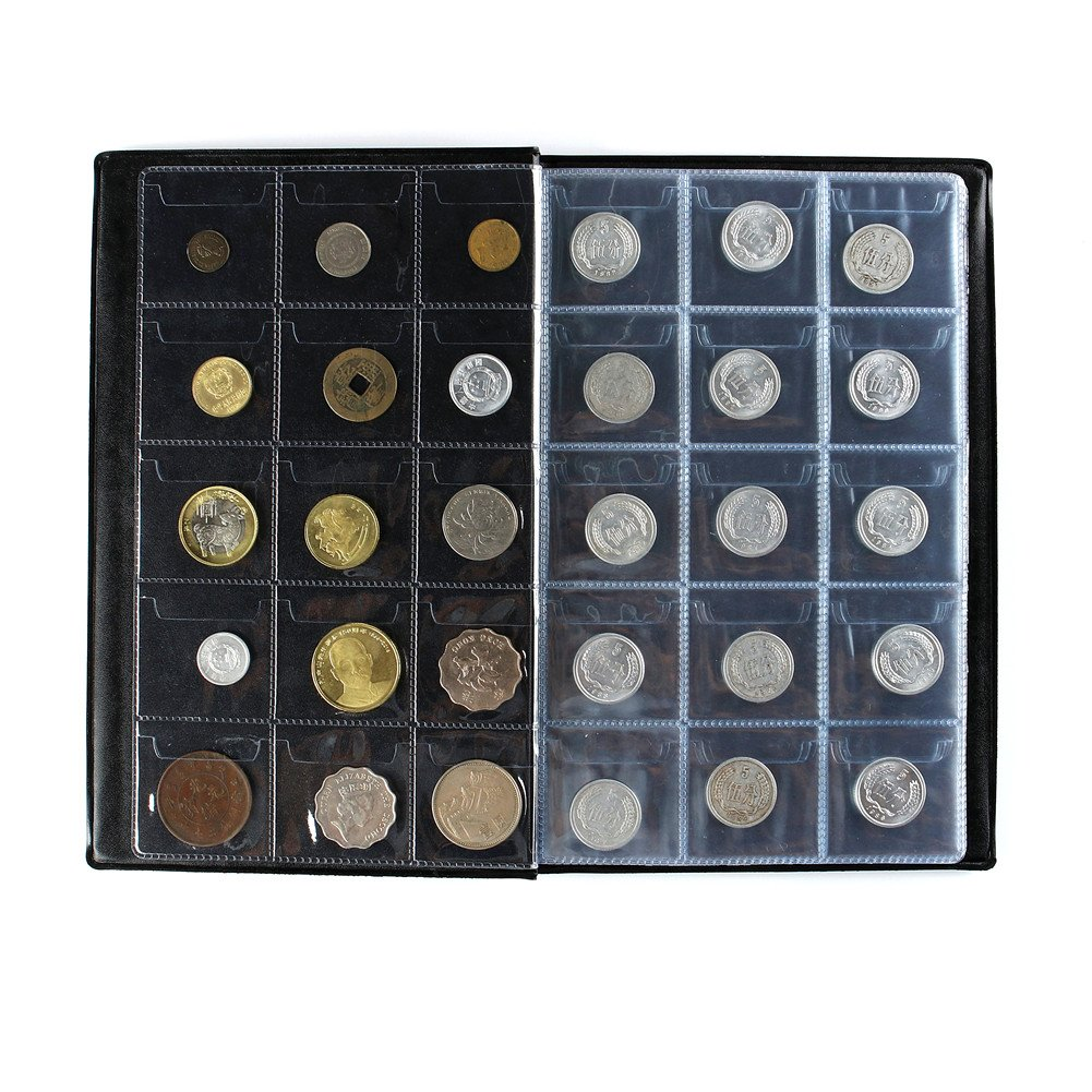 AITIME 150 Pockets Coin Collection Album, Coin Holder Book Suitable for Coin Diameter Less Than 1.65 inches Storage,Black by AITIME (Image #2)
