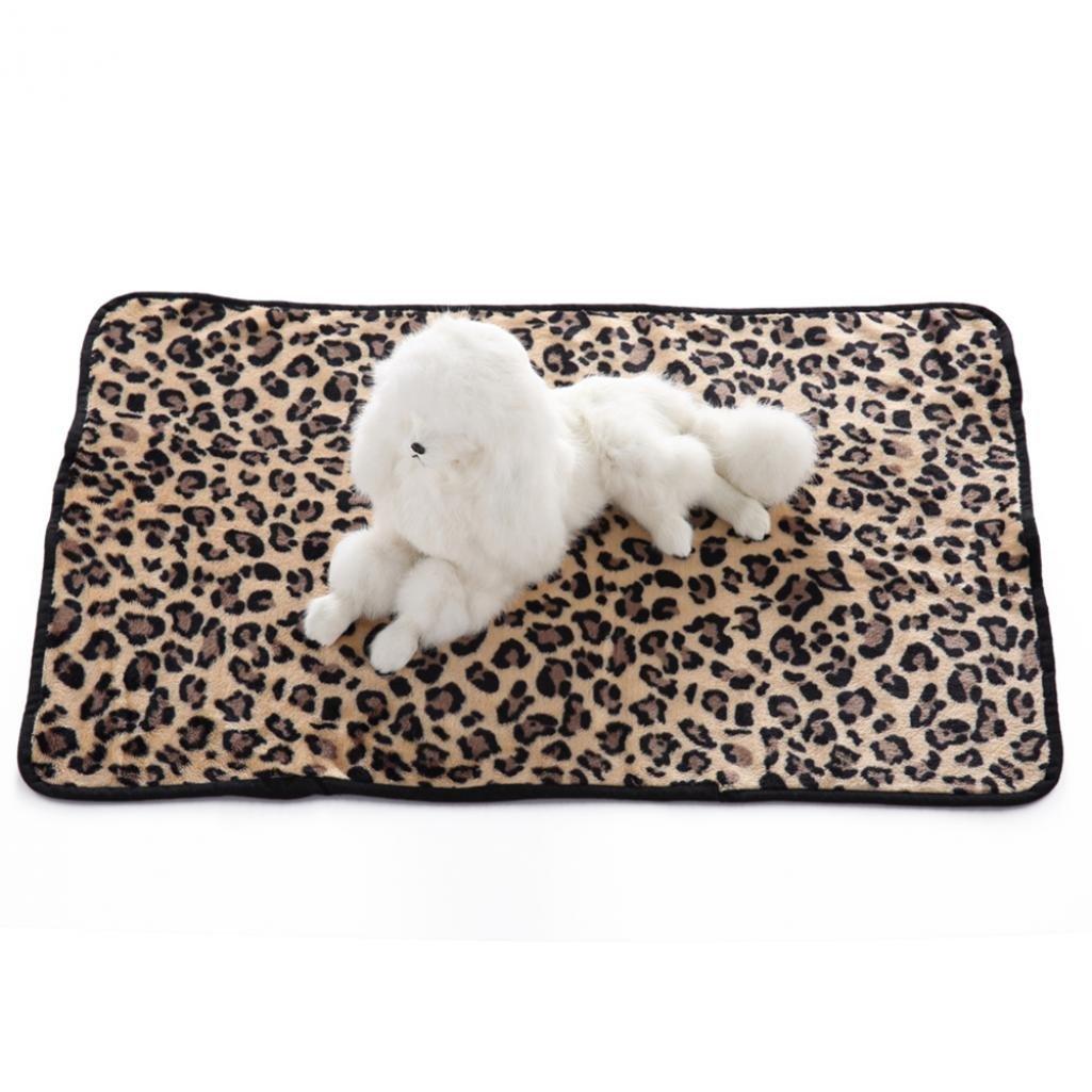 muccato per animali domestici Tappeto-copertina per cani e gatti zebrato HearsBeauty morbido lettino leopardato