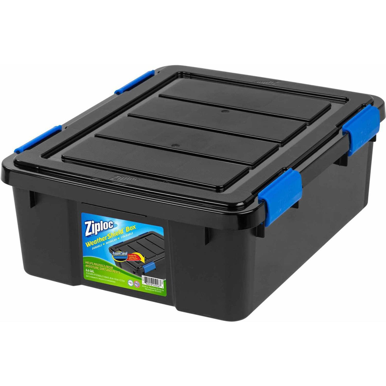 IRIS USA, Inc. Ziploc 26.5 Qt. Small WeatherShield Storage Box Single Black by IRIS USA, Inc.