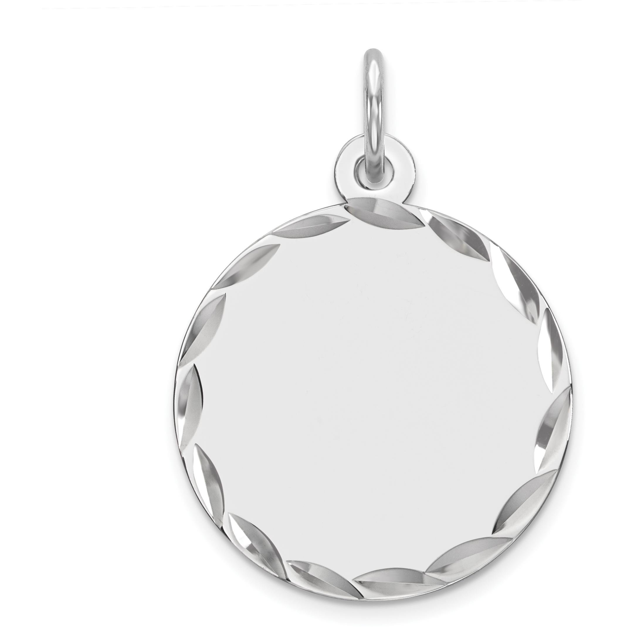 Sterling Silver Disc Round Charm