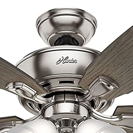 Hunter Fan 52 inch Brushed Nickel Ceiling Fan with Four Dimmable LED Lights Renewed Brushed Nickel