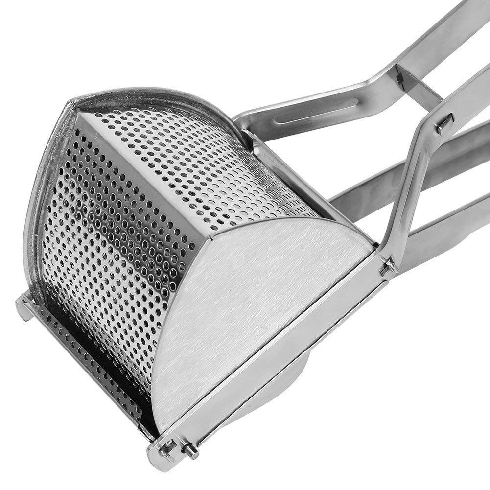 Herramienta manual machacador patatas Prensas para papas triangular de acero inoxidable Extra Fuerte! Fuerte y /ágil by DURSHANI