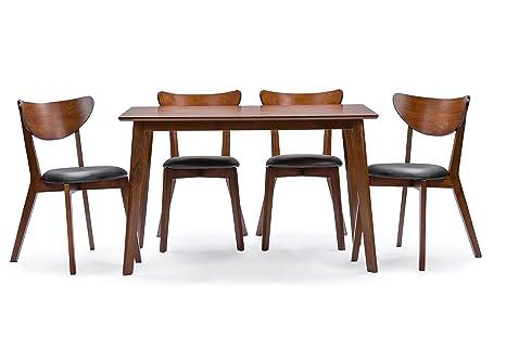 Amazon.com: Baxton Studio Sumner Set de mesa cuadrada para ...