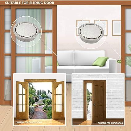 XFORT® - Cierre magnético resistente, imanes ocultos para puertas de tamaño completo, cierres magnéticos que mantendrán el armario, el armario, las puertas correderas y las puertas plegables de forma segura.: Amazon.es: Bricolaje