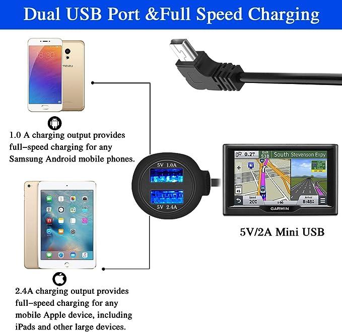 Car Charger for Garmin GPS Nuvi, AQHQUA Garmin GPS: Amazon