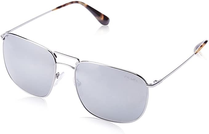 Prada Hombre 0PR52TS 5AV7W1 60 Gafas de sol, Plateado (Lead ...